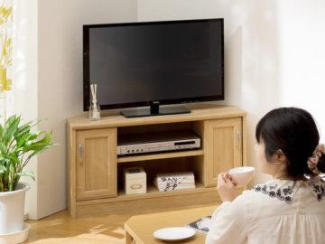 角置きできるテレビ台3