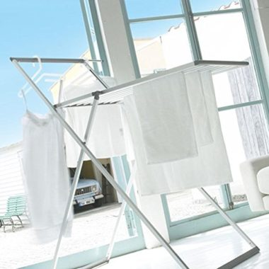 おしゃれなアルミ室内洗濯物干し台6