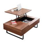 LOWYA (ロウヤ) テーブル ローテーブル 高さ調整 昇降式 天然木 引き出し付き センターテ…