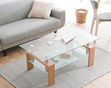 おしゃれなガラスローテーブル1