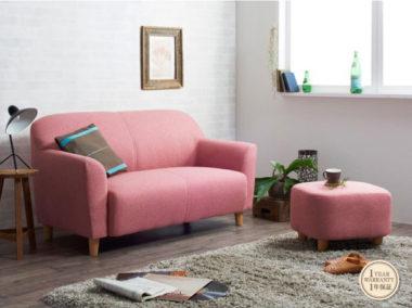 可愛いピンクのソファー1