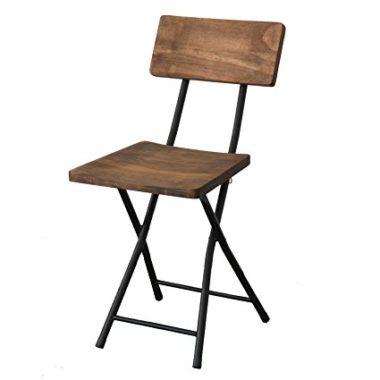 おしゃれな木製折りたたみ椅子1