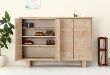 おしゃれな北欧風デザイン木製下駄箱・シューズボックス5