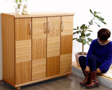 おしゃれな北欧風デザイン木製下駄箱・シューズボックス2