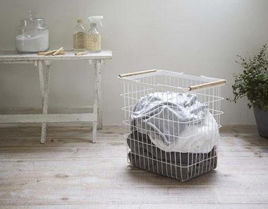 おしゃれな洗濯かご・ランドリーバスケット1