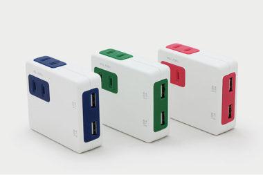 USB充電ポート付きのおしゃれ電源タップ5
