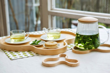 おしゃれな北欧デザインの木製 鍋敷き3