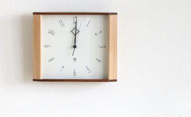和室に合うおしゃれ木製モダン時計5