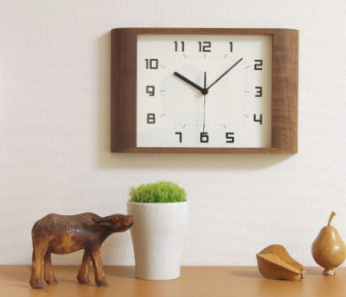 和室に合うおしゃれ木製モダン時計7