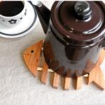 鍋敷き 北欧 木製 トリベット フィッシュ 鍋しき