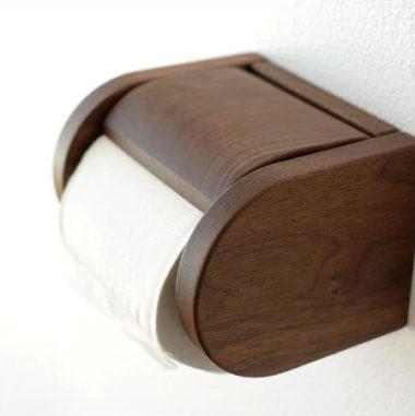 おしゃれな北欧風 木製トイレットペーパーホルダー1