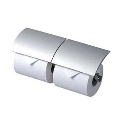 おしゃれなデザインの2連トイレットペーパーホルダー6