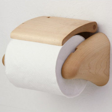 おしゃれな北欧風 木製トイレットペーパーホルダー2
