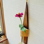 一輪挿し木製【WALLflower】壁掛け 花瓶 ウッド フラワーベース