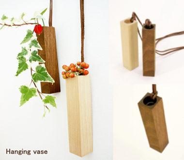 おしゃれな壁掛け木製一輪差し花瓶6