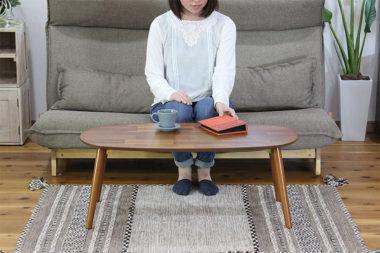 折りたたみ式の北欧風おしゃれな丸ローテーブル3
