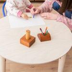 ウォルカ 小ぶりで使い勝手がいいテーブル Sサイズ Mサイズ 円形