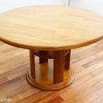 円卓 ダイニングテーブル 無垢材 北欧風 モダンダイニング エレガント