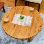 ちゃぶ台 折りたたみ 日本製 ひのき材 丸テーブル 105cm hinoki-178