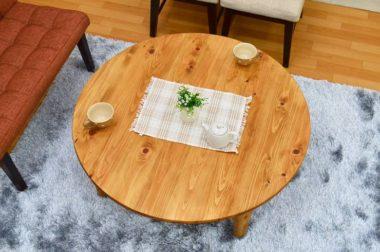 折りたたみ式の北欧風おしゃれな丸ローテーブル5