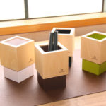 ヤマト工芸 木製ペン立て CUBE MINI
