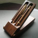 【名入れ 木製 ボールペン&シャーペン&ケース 3点セット】