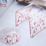 アクリルバスチェア&風呂桶セット エッフェル塔