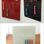 Bi-silque ガラスボード マグネットボード38×38cm:全3色 宅配 ビーシルク ポルト…