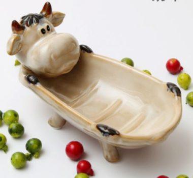 おしゃれな陶器の石鹸置き6