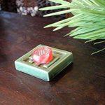 【アジアン雑貨】 陶器製コンパクトソープディッシュ 石鹸置き グリーン