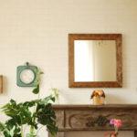 鏡 壁掛け ウォールミラー ミラー アンティーク 50cm x 50cm 四角 正方形 スクエアー…