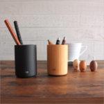 e+m / 木製 ペンスタンド ペン立て Pot Potblly