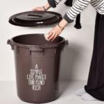 送料無料 日本製 丸型カラーペール 45L 45リットル ゴミ箱 ダストボックス ごみ箱 おしゃれ…
