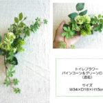 toilet flowerトイレフラワー パインコーン&グリーンローズ♪ 光触媒 CT触媒 造花 …