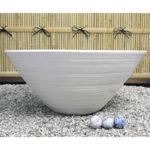25号特大白水鉢信楽焼すいれん鉢 メダカ鉢、 金魚鉢にも最適 睡蓮鉢 陶器スイレン鉢 ハス鉢 はす…