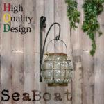 アンティーク風雑貨 店舗什器【Sea Boat-シーボート】ランタンセット*ガラス*球型*吊り下げ…