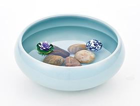 おしゃれ陶器の和風金魚鉢3