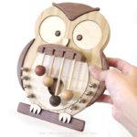 ドアベル ふくろう 木製 ドアメロディ ミニ 福来 ふくろう ドア を開ける度 メロディ を奏でま…