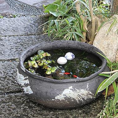 おしゃれ陶器の和風金魚鉢8