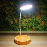 ワイヤレス充電式LEDデスクランプテーブルランプ タッチコントロール 機能 三段階調光 360度回…