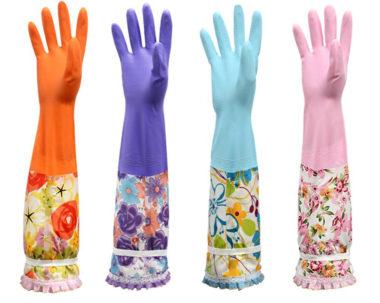 おしゃれなロングゴム手袋2
