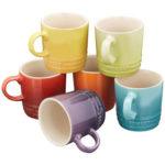 ルクルーゼ ミニ・マグ 耐熱陶器(6個入り) レインボーコレクション 910387-00-438