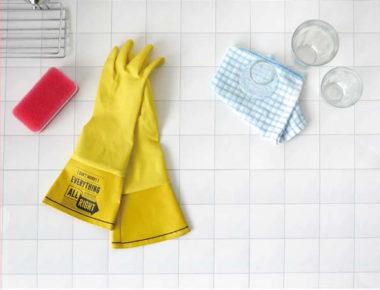 おしゃれなロングゴム手袋3
