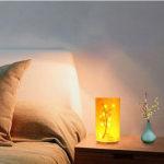 LEDベッドサイドランプ ナイトライト 組み立て式 4段階調光 自動消灯 USB充電 リモコン付き…
