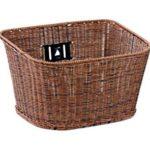 籐風オシャレスチール丸洗い可能メッシュミックスブラウン茶色 自転車用前かご前カゴお買物に便利フロン…