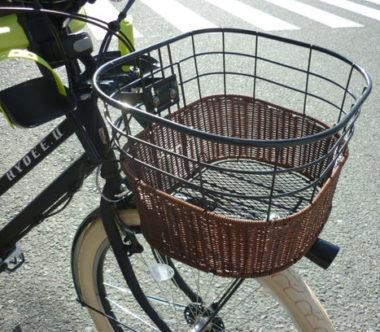 おしゃれな自転車かご