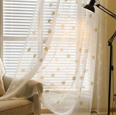 おしゃれかわいい白カーテン