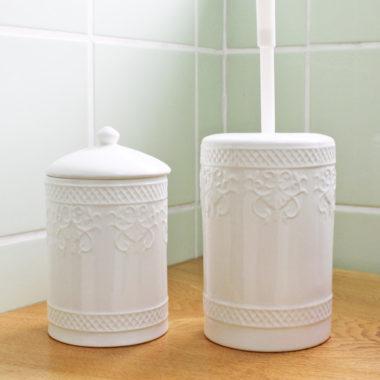 おしゃれな可愛い陶器トイレブラシ7