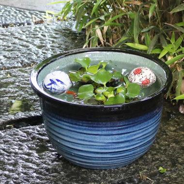 おしゃれ陶器の和風金魚鉢1