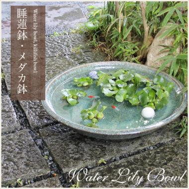 おしゃれ陶器の和風金魚鉢2